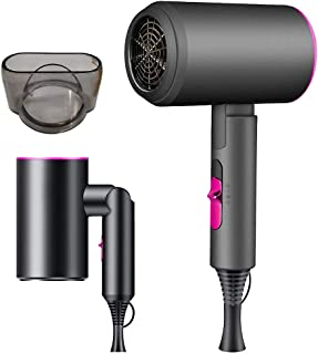 Sponsored Ad - Ionic Hair Dryer, Blow Dryer with Diffuser, 1800W Professional Travel Hair Blower Dryer (3 Heating/2 Speed/...