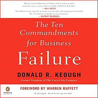 The Ten Commandments for Business Failure audiobook cover art