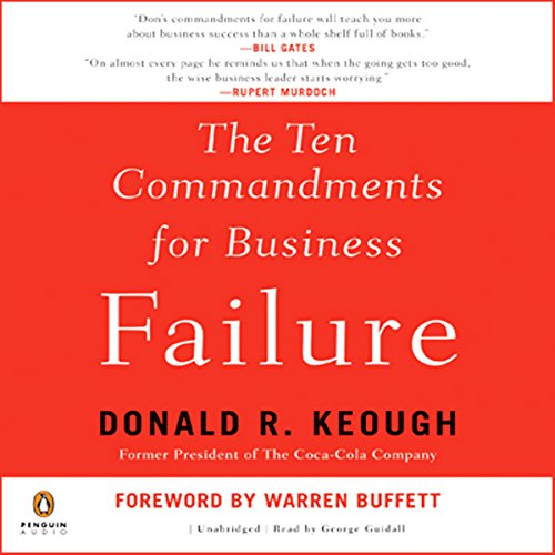The Ten Commandments for Business Failure audiobook cover art