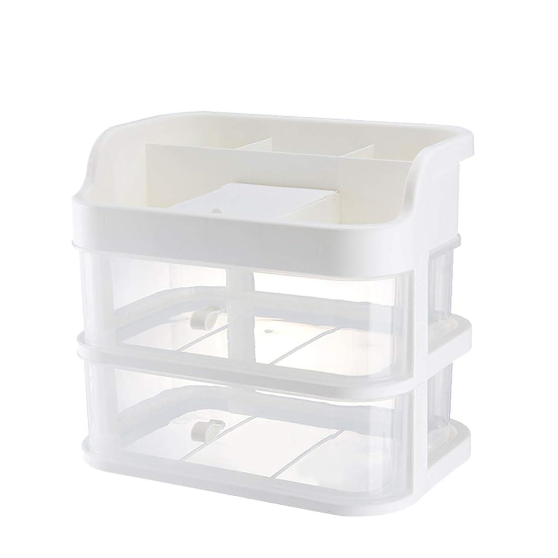 教育者非アクティブ戸惑うMOGU(JP)化粧品収納ラック 透明化粧品ケース 鏡 メイクボックス 大容量 2-4段 強い耐久性 44
