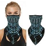 Mascarilla facial para hombres y mujeres, sin costuras, para ciclismo, senderismo, pesca, color azul