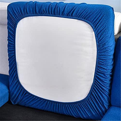 ZYXFYY Wasserabweisender Sofakissenbezug aus hochelastischem Stoff, Sofakissenbezug (hellblau, Chaiselonsitz)