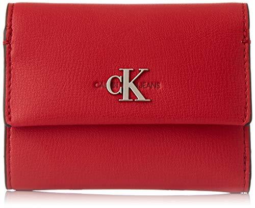 Calvin Klein Damen Ckj Mono Hardware Med Trifold Geldbörse, Rot (Racing Red), 1x1x1 cm