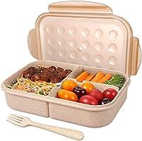 صندوق غداء للأطفال والكبار من بينتو، حاويات طعام مع 3 حجر، آمنة للاستخدام في الميكروويف، آمنة للاستخدام في غسالة الأطباق،...