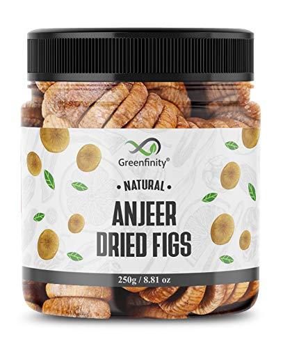 GreenFinity® Premium Afghani Anjeer - 250g | Dried Figs | Jar Pack.