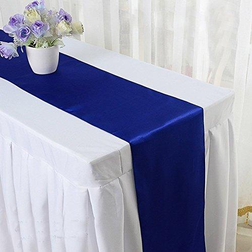 Kingwin satiné Nappe fête de mariage Décoration de table de banquet (Bleu foncé)