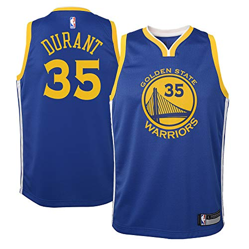 OuterStuff Kevin Durant Golden State Warriors #35 Blue Youth Road Swingman Jersey (Medium 10/12)