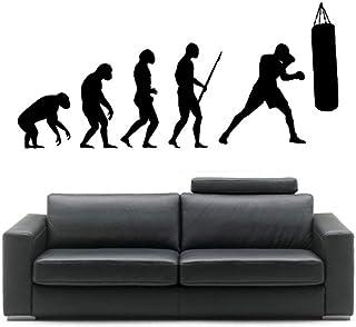 Kssim داروين تطور الرجل الملاكمة pugile autoadesivo ديلا باريت آرتي الفينيل ديكور المنزل ملصقات الحائط 57 * 125 سنتيمتر