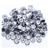 Decoración de bricolaje 1440 unids 1 mm-10 mm Cristal de vidrio Hotfix Rhinestone Muchos tamaños Corrízon Rhinestone Iron-On Diamond para vestido de manualidades de bricolaje ( Size : SS34 144pcs )