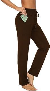 TARSE Women's Stretch Yoga Pants Drawstring Workout Sweatpants Causal Lounge Pants Pockets Trousers