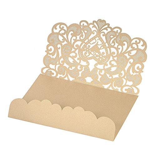 Decdeal 10pcs Carta di Invito a Nozze Copertura Carta Perlata Modello di Carta di Invito Forniture Anniversario di Matrimonio