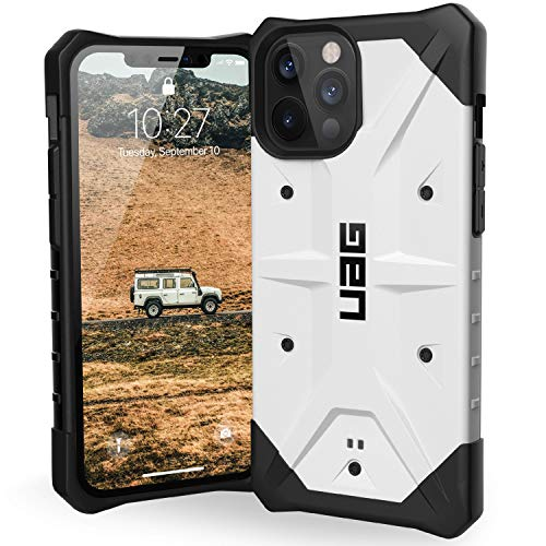 Urban Armor Gear UAG iPhone 12 Pro Max Case, Pathfinder Feather-Light Rugged Protection Case/Cover Designed for iPhone 12 Pro Max 5G (6.7-inch) (2020)(Military Drop Tested) - White