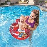 LHFLU-SP Anello di Nuoto per Bambini, seggiolino per Nuotata per Nave per Auto per Bambini da 0 Mesi a 24 Mesi, Rosso