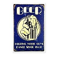 ビールガイダンスティンサイン壁鉄の絵レトロプラークヴィンテージ金属板装飾ポスターおかしいポスター吊り工芸品バーガレージカフェホーム