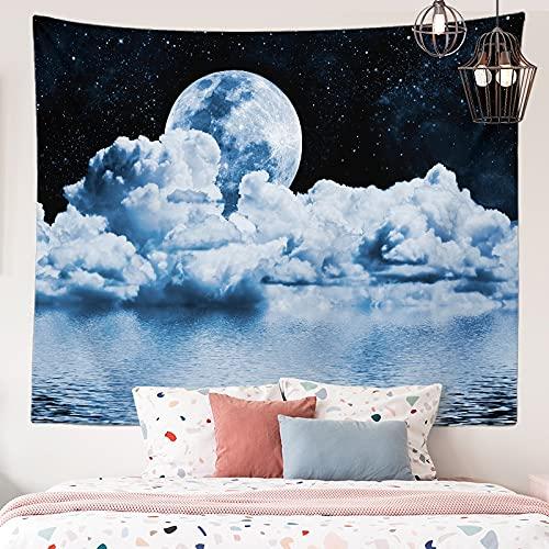 KHKJ Astronaut Planet Tapiz cabecero de Pared Arte Colcha Dormitorio Tapiz para Sala de Estar Dormitorio decoración del hogar A20 200x150cm
