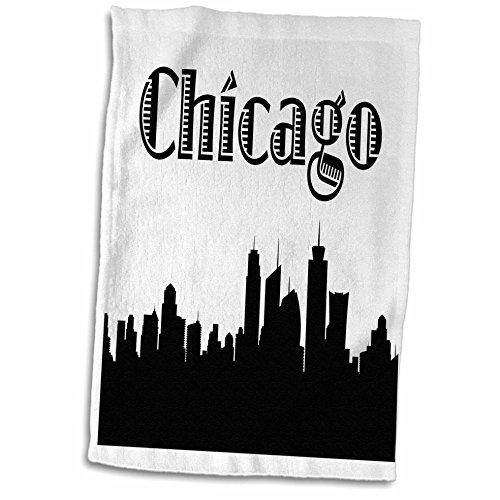 3D Rose Chicago City Skyline Towel, 15' x 22'