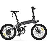 C20 Bicicleta eléctrica para Adultos, Bicicletas E 20 Pulgadas con Shimano 6 velocidades Batería 10AH 250W Velocidad máxima 25 km/h Portátil para Hombres Mujeres-Gris