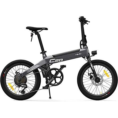 Bicicleta eléctrica para Adultos, e Bicicletas para Mujeres Hombres con batería 10AH 250W Velocidad máxima 25 km/h Portátil para Hombres Mujeres Deportes (C20-Gris)