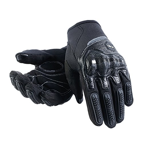 ILM ATV BMX MX MTB Cycling Riding Dirt Bike Full Finger Gloves Touchscreen Fit For Men Women (Black, XXL)