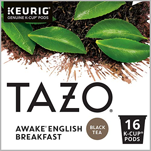 Tazo Awake English Breakfast K-Cup Pods For a Bold Traditional Breakfast-Style K-Cup Tea Black Tea Caffeinated Morning Drink 16 K-Cup Pods