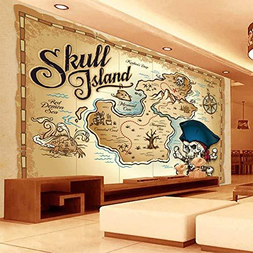 3D Wallpaper Wohnzimmer Schlafzimmer Europäische Stil Piraten Schatzkarte 3D Foto Tapete Restaurant Wohnzimmer TV Sofa Hintergrund Wandbild Benutzerdefinierte moderne Tapete