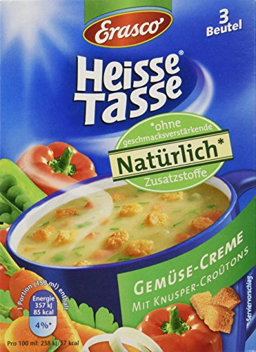 Heisse Tasse Gemüse-Creme mit Croûtons Faltschachtel á 3 Beutel á 0,15 l, 12er Pack (12 x 450 ml)