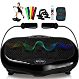 FITPULSE Vibration Plate Exercise Machine - Dual Motor Vibration Platform Machine Vibrating Platform...