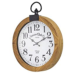 American Art Decor American Clock Co. Clocks Vintage 1879 Wooden Pocket Watch Wall Clock 20