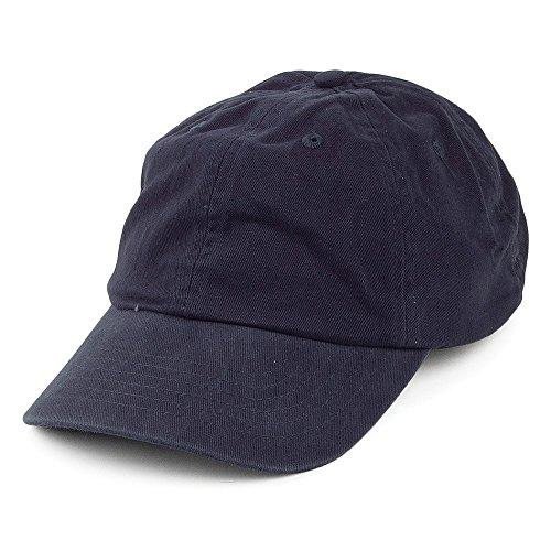 Village Hats Casquette en Coton Délavé Bleu Marine - Ajustable