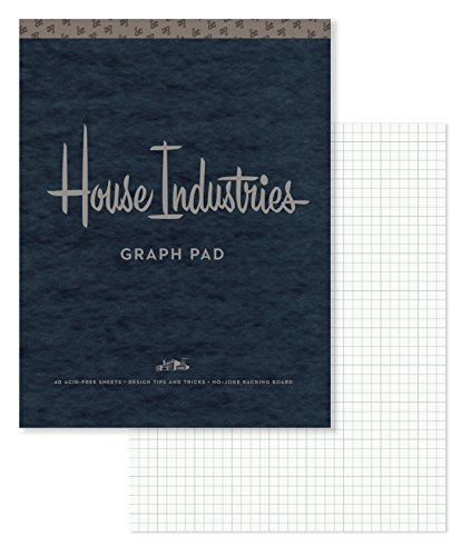 House Industries Graph Pad: 40 Acid-Free Sheets, Design Tips, Extra-Thick Backing Board