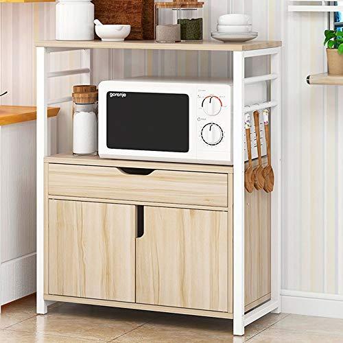 TWFY Rack de Panadería con Estantes Cocina Estante del Horno microondas Soporte 2-Tier Estante con cajones y armarios Almacenamiento de Soporte de Microondas de Cocina