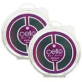 Celloexpress® - 2 x Cera profumata da giardino con fiori selvatici, fragranze altamente profumate,, aromaterapia, da usare con bruciatori elettrici o per candele.