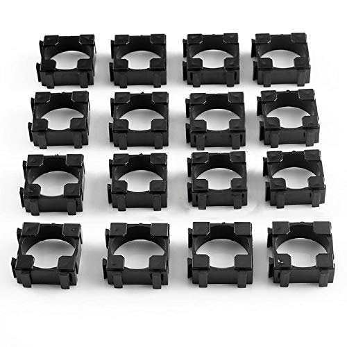Bestol 200pcs 18650 Battery Cell Holder Safety Spacer Radiating Shell Storage Bracket Fits for 1x 18650 Battery