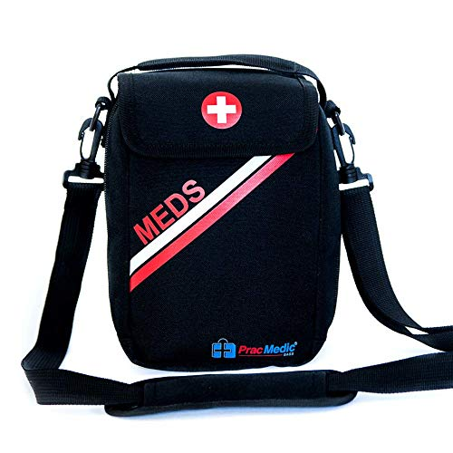 PRACMEDIC First Aid Bag - Empty Medium Insulated Pouch for Medicine and Supplement Organizer - The...