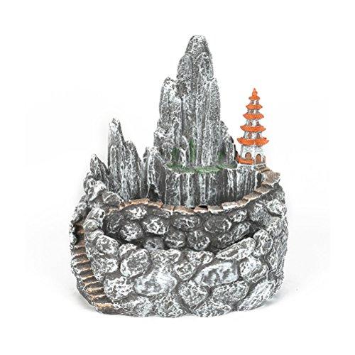 OUNONA Sukkulente Kaktus ¨¹bertopf Blumentopf Double Layer Creative Mountain Design (schwarz)