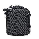 Z ZELUS Pure Poly Dacron Battle Ropes for Strength and Conditioning Workouts (1.5' X 50ft)