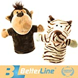 Animal Hand Puppets Set of 2 by BetterLine -...