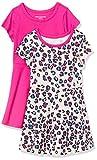 Amazon Essentials Paquete de 2 Vestido de Manga Corta para niña Playwear-Dresses, Animal, 4 años