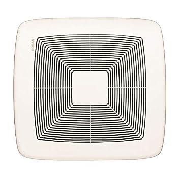 Broan-NuTone QTXE080 Very Quiet Ceiling Bathroom Exhaust Fan Energy Star Certified 0.3 Sones 80 CFM White