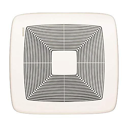 Broan-NuTone QTXE080 Very Quiet Ceiling Bathroom Exhaust Fan, Energy Star Certified, 0.3 Sones, 80 CFM, White