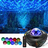 LED Night Light Projector, 3 in 1 Star Light Projector, Ocean Wave Projector with Bluetooth Speaker Remote Control, Galaxy Starry Light Projector Music Speaker for Party/Bedroom/Holidays/Kids/Adults