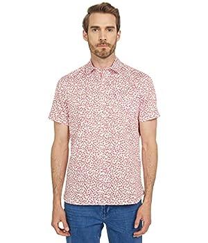 Ted Baker Parslee Short Sleeve Flower Print Shirt Red 7  2XL