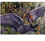 N\A Pintura por Numeros Adultos Niños,Manualidades Adultos,DIY Regalos Kit Pintura Acrilica Cuadro Lienzo - Caballo Volador 40X50Cm(with Frame)