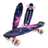 Caroma Skateboards für Kinder Jungen und Mädchen 22 Zoll 55cm...