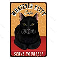 かわいい猫の金属のサインプラーク漫画のペットカフェクラブのリビングルームの子供部屋の装飾の金属のポスターのための錫のサインプレートの壁の装飾-20x30cm