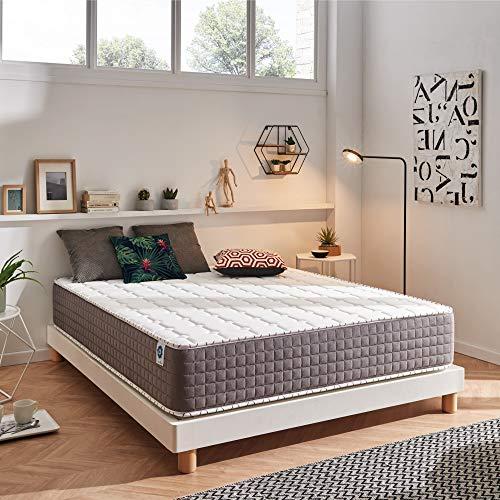 Naturalex | Extrafresh | Matratze 160x200 cm | 30 cm Komfort Best of Memory Foam | Neuartige Kombination Blue Latex High Resilience | 7 Ergonomische Komfort-Zonen | Perfekte Körper-Unterstützung