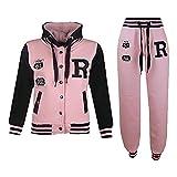 A2Z 4Kids - Tuta da baseball, logo NYC Fox, giacca con cappuccio e pantaloni sportivi, unisex, per bambini FOX Baby Pink 7-8 Anni