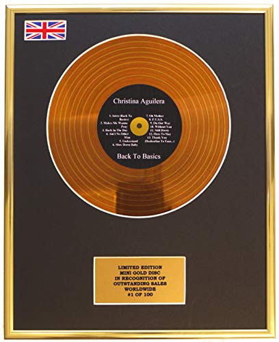 Limited Edition Christina Aguilera/Mini Metal Gold Disc/EDICIÓN Limitada/COA/Back TO Basics