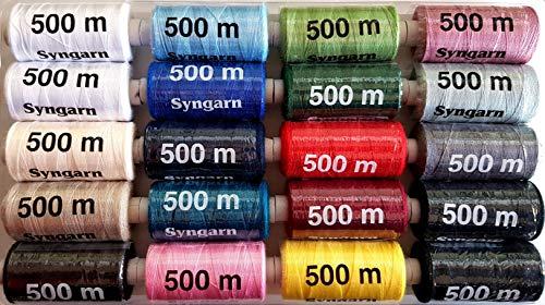 20 bobinas de hilo para máquina de coser, 500 m, 504-20