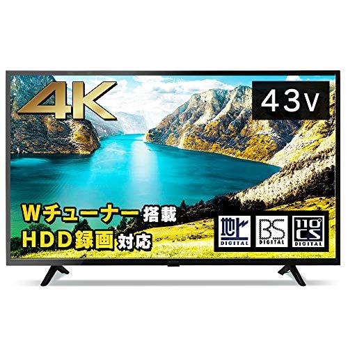 アイリスオーヤマ 43型 4K対応 液晶 テレビ 43インチ ブラック 43UB10P
